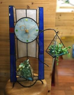 2018.07リビングテラリウム付き時計.JPG